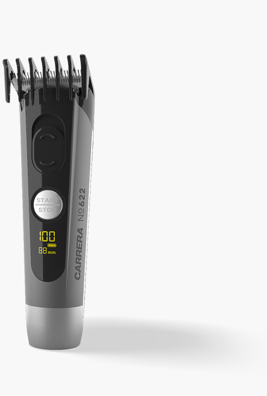 CARRERA №622 Hair Clipper with attachable comb in total view