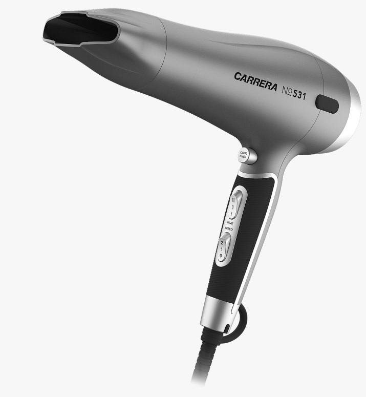 CARRERA №531 Ion Hair Dryer total view