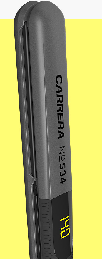 CARRERA №534 Ion Hair Straightener side view vertical closed