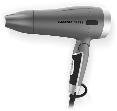 CARRERA №532 Hair Dryer foldable side view