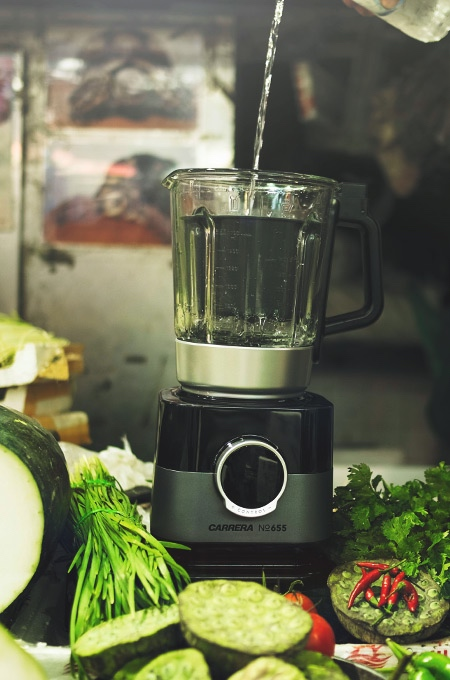 Blender with cooking function