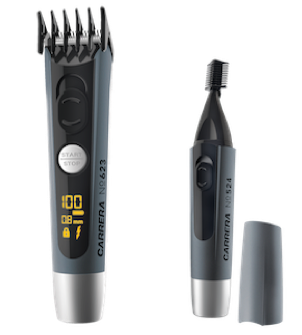 Beard Trimmer No 623 and Cosmetic Trimmer No 524 standing side by side