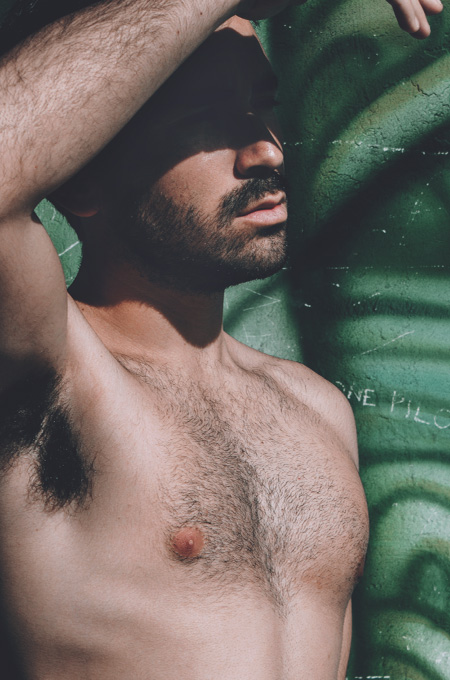Man with chest hair